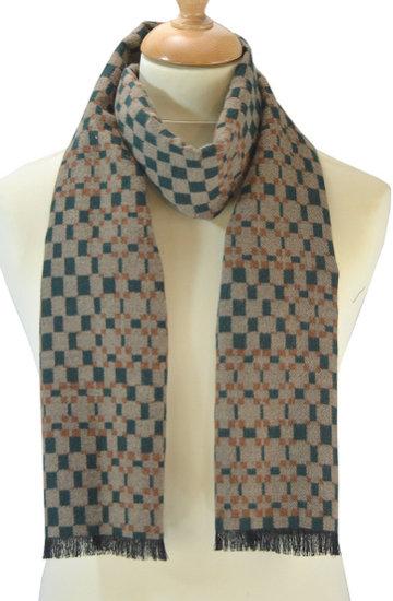 Heren sjaal Tiles beige