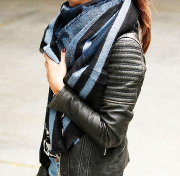 Mooie vierkante dames sjaal Stylish Animal|Vierkante shawl|Omslagdoek|Luipaard print leopard|Blauw grijs zwart|Extra zacht