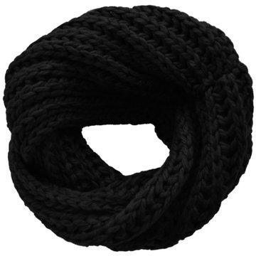 Gebreide col sjaal Snow|Zwart|Tube shawl|Ronde sjaal