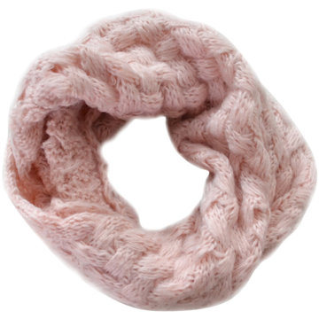 Gebreide col sjaal Tola|Roze|Tube shawl|Ronde sjaal|Cirkel sjaal