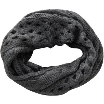 Gebreide col sjaal Tima|Grijs|Tube shawl|Ronde sjaal|Cirkel shawl