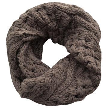 Extra dik gebreide col sjaal Kol|Taupe|Tube shawl|Ronde sjaal|Cirkel shawl|Extra dikke kwaliteit