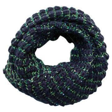Gebreide ronde sjaal Rosa|Blauw groen|Tube shawl|col sjaal|Cirkel shawl|Glitter