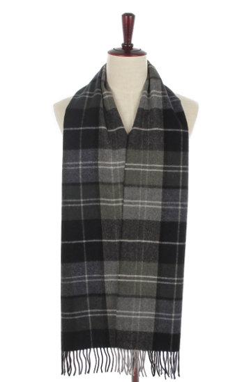 Mooie heren sjaal Tartan|Wollen shawl|Geruit geblokt|Grijs zwart groen