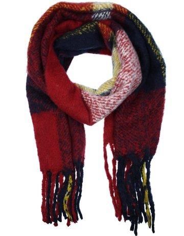 Lange dames sjaal Winter Red|Extra lange sjaal|Rood Blauw|Dikke kwaliteit|Extra zacht