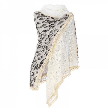 Vierkante dames sjaal Square Leopard Vierkante shawl Omslagdoek Luipaardprint