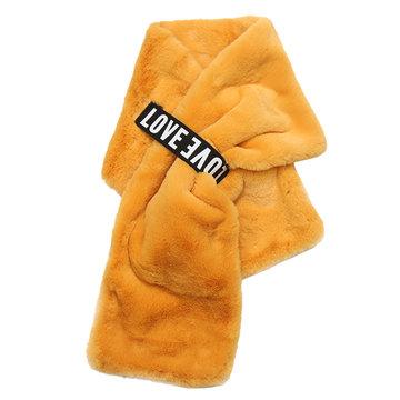 Trendy sjaal Furry Love|Lange dames sjaal|Fake fur|Nepbont|Oker geel