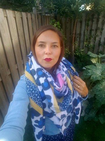 Grote vierkante sjaal Lila|Wol|Vierkante shawl|Luipaardprint sterren|Blauw geel roze groen grijs|Extra zacht