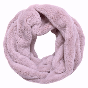 Faux fur col sjaal|Blush pink grijs|Tube shawl|col sjaal|Nep bont
