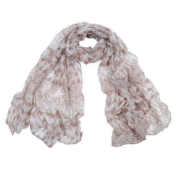 Lange dames sjaal Blend Pattern|Bruin beige shawl