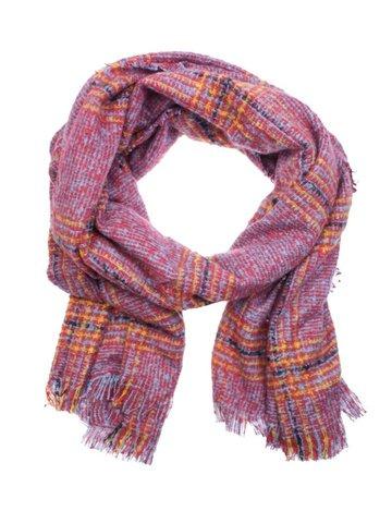 Warme dames sjaal Gemma|Roze geel|Gestreept Geruit|Lange dames shawl