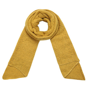 Warme dames sjaal Comfy Winter|Okergeel|Effen shawl