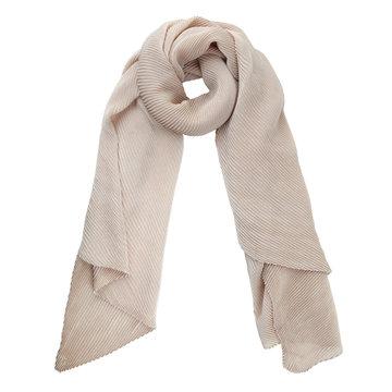 Lange sjaal Brighten Up Beige Kreukel sjaal Zijdezachte shawl