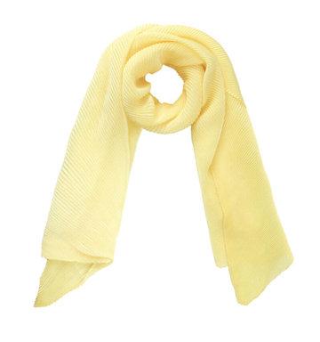 Lange sjaal Brighten Up Geel Kreukel sjaal Zijdezachte shawl