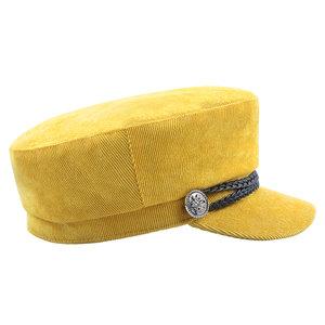 Scarfz sailor hat hoedje pet geel yellow corduroy