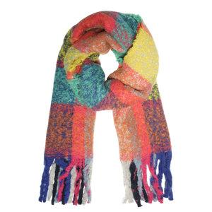 Extra dikke sjaal Winter Madness|Lange shawl|Geruit Geblokt