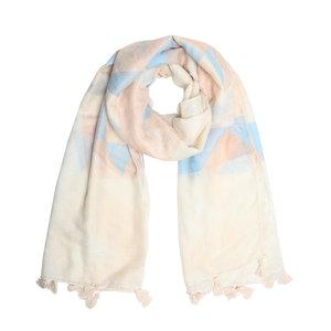 Zachte dames sjaal Pastel Triangle Lange shawl Beige Roze Blauw glitter