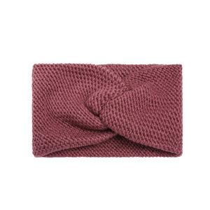 Scarfz warme hoofdband knitted gebreid soft as snow fuchsia