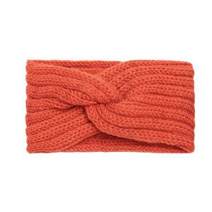 Hoofdband Winter Knot Oranje Gebreide haarband