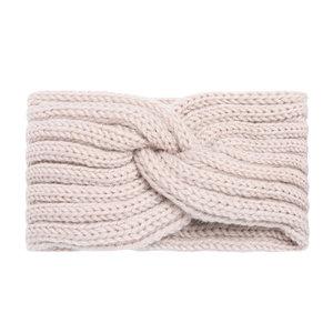 Hoofdband Winter Knot|Babyroze|Gebreide haarband