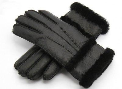 Lederen dames handschoenen Winter Vibes Zwart Zachte voering