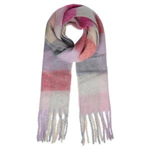 Zachte dames sjaal Winter Magic|Paars Roze|Geblokt