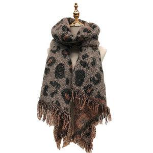 Warme dames sjaal Leopard Lovers|Langwerpige shawl|Extra dikke kwaliteit|Luipaard|Glitter