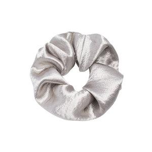 Scrunchie Sweet as Satin|Haarelastiek|Haarwokkel|Froezel|Satijn zilver