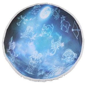 Roundie strandlaken Zodiac|Beach towel|Badstof|Blauw|Horoscoop