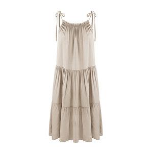 Zomers jurkje Kiki Beige mini jurk