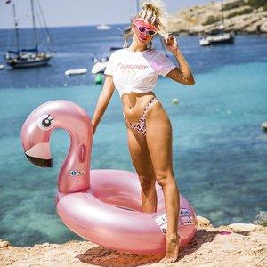 Zwemband Rose Flamingo|Opblaasfiguur|Waterspeelgoed|Roze Flamingo