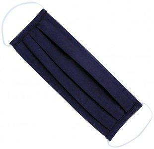 Blauw mondmasker basic|Katoen mondkapje|100% Katoen|Wasbaar 60 graden