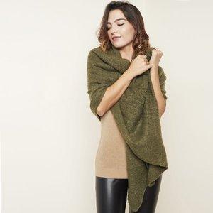Warme dames sjaal Comfy Winter|Olijfgroen|Effen shawl