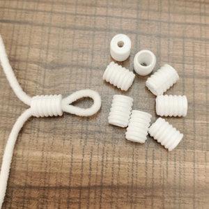 Witte siliconen non-slip stoppers|Verkleiners mondkapjes|Schakels elastisch koord