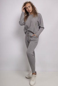 Loungewear set Comfy Grijs glitter Broek en sweater Homewear