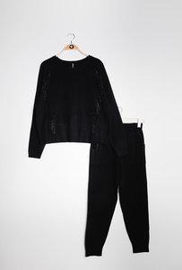 Loungewear set Comfy|Zwart glitter|Broek en sweater|Homewear