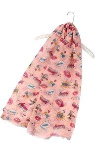 Roze sjaal voor meisjes Roller Skates