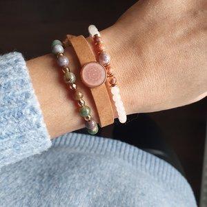 Set kralenarmbanden For You Lederen armband Stenen kralen