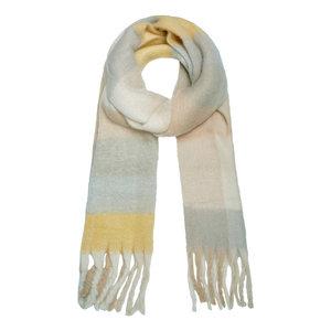 Extra zachte sjaal Checkered|Wintersjaal dames|Geel Grijs