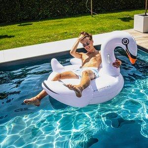 Inflatable White Swan Opblaasfiguur Waterspeelgoed Grote zwaan luchtbed