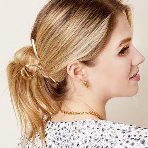 Haarclip Louise Grote haarklem Goudkleurig