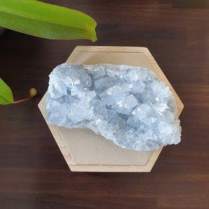 Celestien ruw Large|Gekristalliseerde edelsteen|A-Kwaliteit|115 x 65 x 45 mm