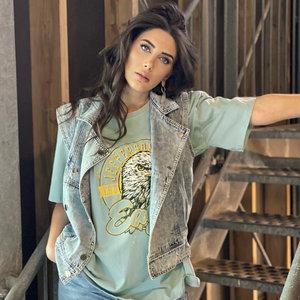 Oversized shirt Eagles|Legergroen t-shirt