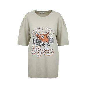Oversized shirt River City|Beige t-shirt