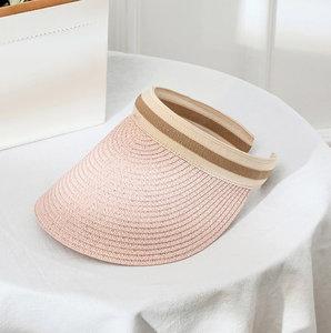 Zonneklep Happy Me - Roze zomerhoed - Strandhoed Zonnehoed