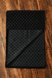 Heren sjaal Diamond Pattern|Warme viscose shawl|Zwart Grijs|Fijne franjes