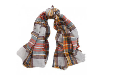 Scarfz geruite sjaal bruin