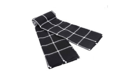 Scarfz sjaal zwart wit geruit