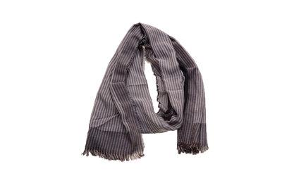 Scarfz heren sjaal grijs gestreept