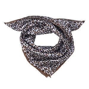 Scarfz vierkante sjaal Panter bruin